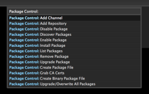 Package Control Sublime Text 2 Plugin