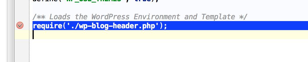 PHPStorm Breakpoint
