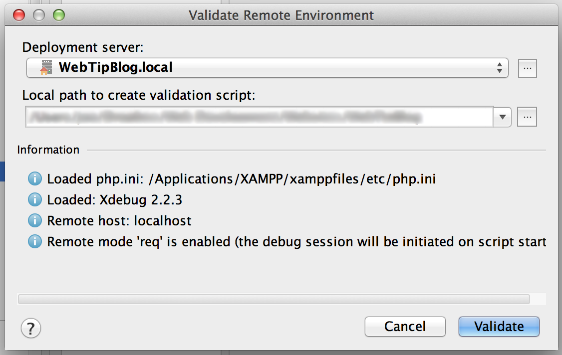 PHPStorm Validate Remote Environment